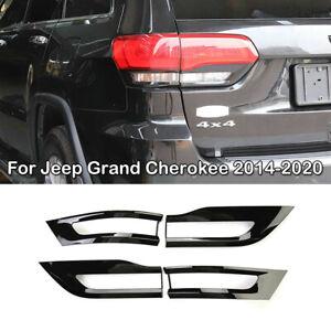 Tail Light Lamp Cover Trim Bezel For Jeep Grand Cherokee 2014-2020 Gloss Black