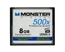 Monster Digital 8GB Compact Flash CF 500x Professional Quality UDMA 6