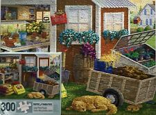 """SUMMER PLANTING SHED - 300 LARGE PC PUZZLE - BITS & PIECES- SIZE 18""""X24""""COMPLETE"""