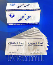 100x 70% Isopropyl Alcohol Swabs Wipes Tattoo Piercing