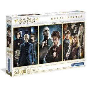 Multi-Puzzle 3 x 1000 Harry Potter - Clementoni - Warner Bros