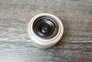 Panasonic Lumix 12-32mm f/3.5-5.6 Mega O.I.S Pancake Lens Silver M4/3 Olympus