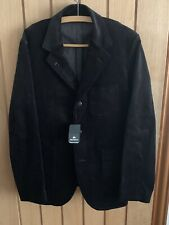 "NIGEL CABOURN HOSPITAL CORDUROY JACKET BLACK/NAVY SIZE 50 APPROX 40"" CHEST"
