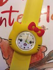 Reloj de Pulsera Calidad De Reloj De Pulsera Hello Kitty Niñas Niños Slap Amarillo Liso Qty au