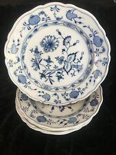 Meissen 5 assiettes creuse en porcelaine décor oignons bleu lot 1