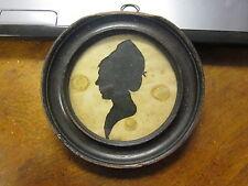 Ca. RARE 1800's Antique FEMALE Silhouette  unknown  ARTIST?