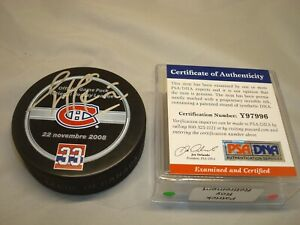 Patrick Roy Signed Montreal Canadiens Official Game Hockey Puck PSA/DNA COA 1A