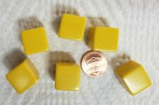 Dice - Add your own images/numbers on (6) 16mm Yellow Blanks w/Squared Corners