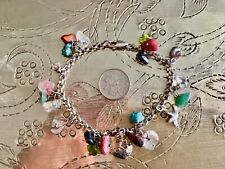 Handmade Vintage Charm Bracelet Sterling Silver With Natural Stone