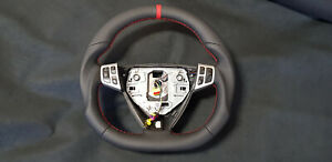 Steering Wheel Saab 9-3 9-5 Aero Leather Flat Bottom since 2006 year Extra Thick