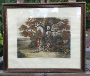 "Antique ""Shooting"" Intaglio Print IV: Wolstenholme/Sutherland 1823 English Hunti"