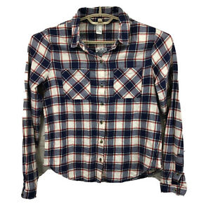 NEW Forever 21 Womens Shirt Long Sleeve Button Up Plaid Flannel Size Medium