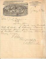 1900 RP Tucker Auctioneer Charleston SC Birds Eye View Illustrated Letterhead