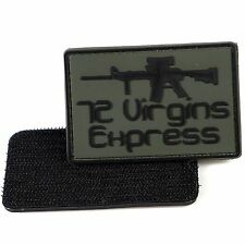 PVC Morale Patch 72 Virgins Express 3D Badge Hook #26 Paintball Airsoft