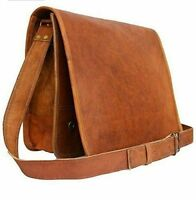 NEW Vintage Men Genuine Leather Satchel Shoulder Laptop Bag Messenger Briefcase