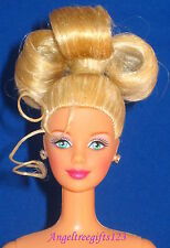 Nude Barbie mackie sculpt blonde updo hairstyle blue eyes perfect for ooak
