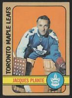 1972-73 TOPPS #24 JACQUES PLANTE — EX (5)