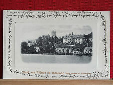 AK  Gruss aus Litschau - gel 1905 - Neues Schloss mit Herrenteich - Bezirk Gmünd