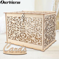 Wedding Card Box with Lock Rustic Wooden Card Post Box DIY Gift Wedding Favors
