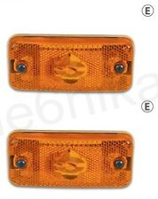 2x Orange Side Marker Lights Amber Lamp for FIAT DUCATO (MAXI) 2009> E Marked