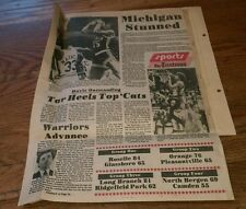 1977 Basketball clippings Lot MICHIGAN Tar Heels WARRIORS College Sports Rare