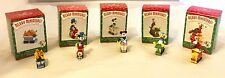 Retired 1998 Hallmark Disney Merry Miniatures Mickey Express Train Ornament Set
