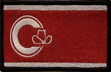 Calgary Canada Flag Military Patch With VELCRO® Brand Fastener  BLACK Border