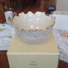 Classic Lenox Tulip Treat Bowl Ivory with Gold Trim