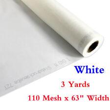 "NEW 3 Yards 110 Mesh * 63"" Width White Silk Screen Silkscreen Printing Fabric"