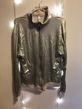 Silver metallic American Apparel 'windbreaker' jacket in medium