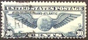 1939 30c Trans-Atlantic Airmail Single, Scott #C24, Used, Fine