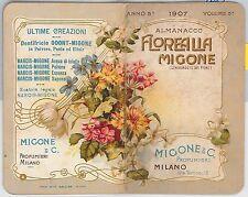 CALENDARIETTO d'epoca PROFUMATO  - Profumeria MIGONE 1907
