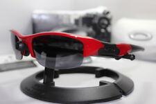 New Oakley Flak Jacket 1.0 Lipstick Red w/+Black Iridium Asian Fit 03-892J