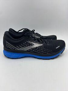 Brooks Mens Ghost 13 Black/grey/blue Size 11.5 M , 168