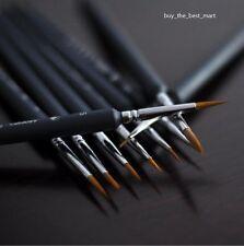 9x Künstlerpinsel Malpinsel Pinsel Bürste Rundpinsel für Aquarell Ölfarbe Acryl
