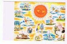 FUN IN THE SUN - BEACH - GOLF - HORSES - BOATS -  NEW JERSEY  - POSTCARD # 467