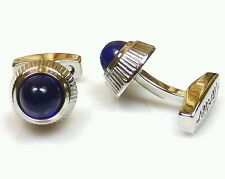 CARTIER Pair Balloon Bleu Cufflinks Silver & Blue - GREAT CONDITION