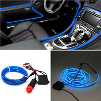 2M Blue LED Car Interior Decor Atmosphere Wire Strip Light Lamp Accessories ZC
