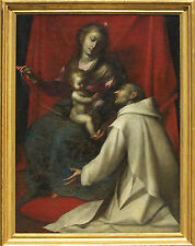 The Madonna and Child with St John the Baptist 17 century Oil Painting