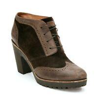 Sperry Ladies 11 M Top Sider Wingtip Suede Leather Ankle Oxford Heels Booties