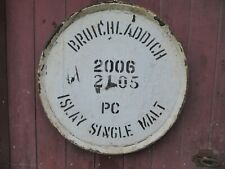"""2006 Bruichladdich Port Charlotte Barrel lid 25"""" wide Braced and ready to hang"""
