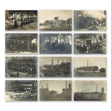 12 x Imperial Russian Donetsk Enakievo Ukraine Manufacturing Factory Postcards