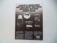 advertising Pubblicità 1980 HEUER MICROSPLIT 221/231