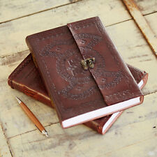 Indra FairTrade Hefty Embos Leather Journal Diary Journal Sketchbook 2nd Quality