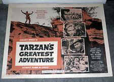 TARZAN'S GREATEST ADVENTURE poster GORDON SCOTT/SCILLA GABEL original 22x28