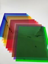 """*NEW*Color Gel Filter Sheets appx 21x24"""" Photo,Video,Theater,Stage SEE DESCRPTN"""