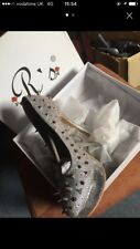 Rs Silver Spikey Stiletto Heels Size 6 NWT