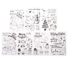 Weihnachten Transparent Silikon Clear Stamp Cling Tagebuch Scrapbooking DIY ^