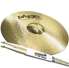 """PAISTE 101 Brass 18"""" Crash Ride Becken + Keepdrum 5A Drumsticks"""