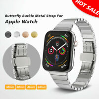 For Apple Watch Strap 38/40/42/44mm Series1 2 3 With Stainless Steel Buckle